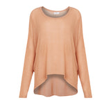 Rose Gold Solid Knit Sweater - KARMA for a cure by Margaux - Rose Gold knit sweater makes your skin glow