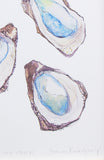 'Gulf Oysters' Print by Frances Rodriguez