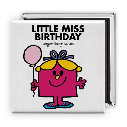 Little Miss Birthday Square Magnet