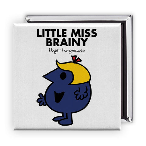 Little Miss Brainy Square Magnet