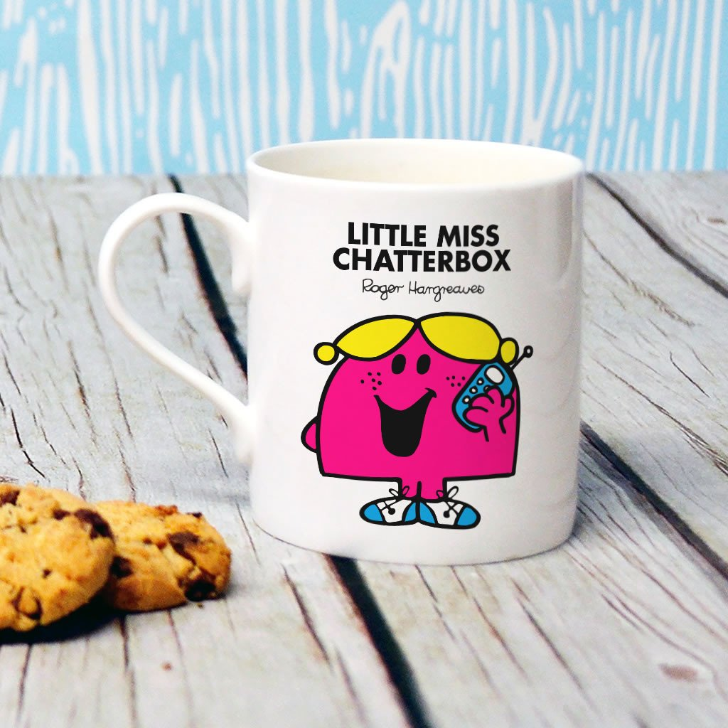 Little Miss Chatterbox Bone China Mug (Lifestyle)