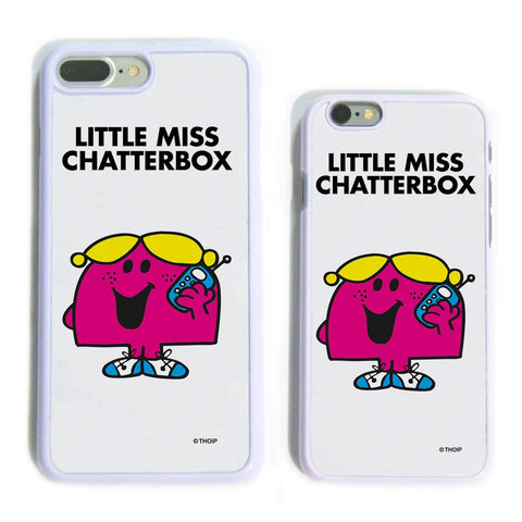 Little Miss Chatterbox White Phone Case