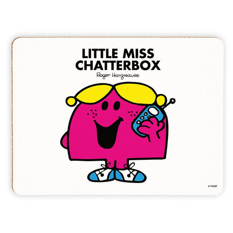 Little Miss Chatterbox Cork Placemat