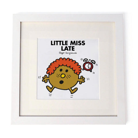 Little Miss Late White Framed Print