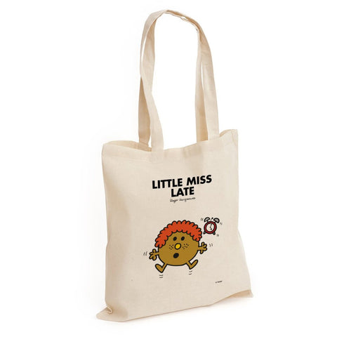 Little Miss Late Long Handled Tote Bag
