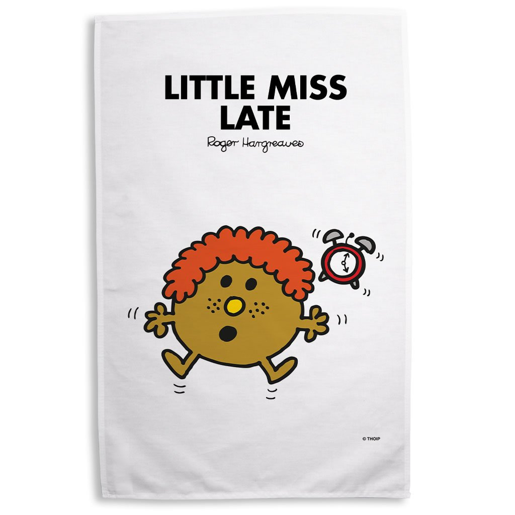 Little Miss Late Tea Towel
