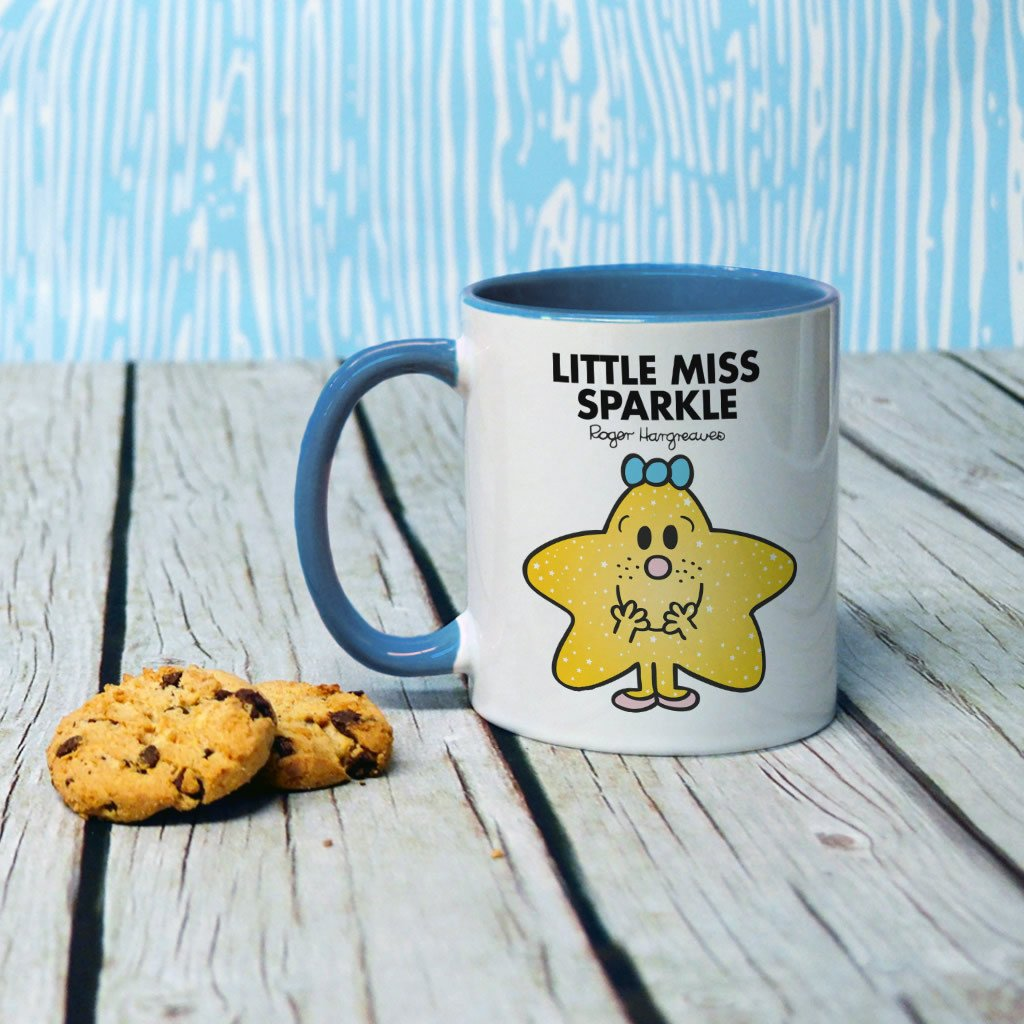 Little Miss Sparkle Large Porcelain Colour Handle Mug (Lifestyle)