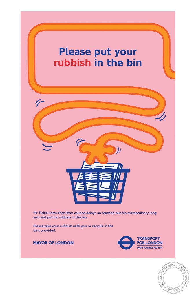 Mr. Tickle Rubbish TFL Limited Edition Print