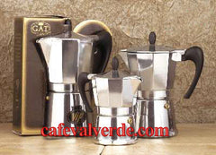 Polished Aluminum Stove Top Espresso Maker