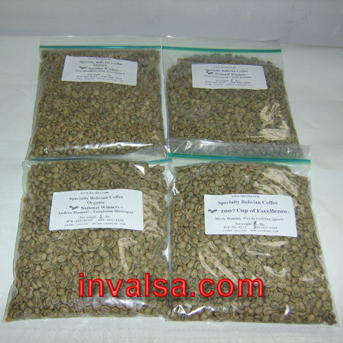 Decaf (water-process) Coffees Sampler Pack 2A: Four one-pound green coffees