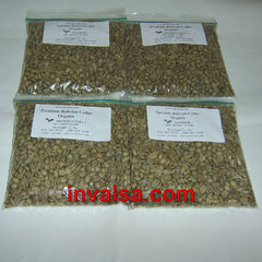 Decaf (water-process) Coffees Sampler Pack A: Four half-pound green coffees