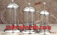 Pyrex 2/6/8-cups Stainless Steel Coffee or Tea French Press Pots