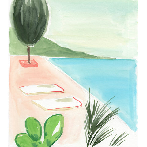 Infinity Pool with Cactus by Virginia Johnson