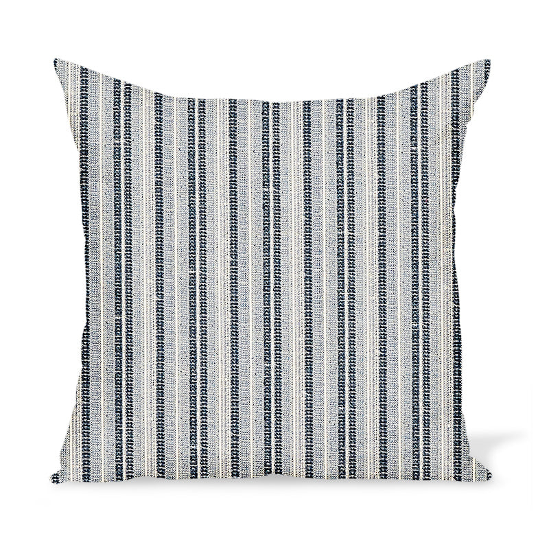 Peter Dunham Textiles Outdoor Majorelle in Indigo on Natural Pillow