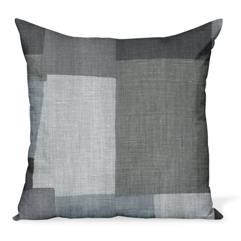 Peter Dunham Textiles' Collage fabric celebrates modern art, color, and geometry. This is the charcoal/ash gray color way and can be made in a variety of sizes.