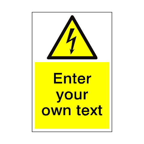 Electrical Safety Sign Custom Portrait