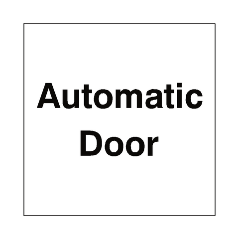 Automatic Door Sticker - Safety-Label.co.uk