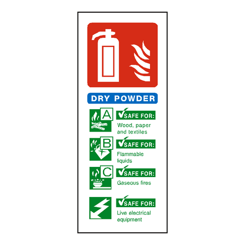 Dry Powder Fire Extinguisher Label - Safety-Label.co.uk