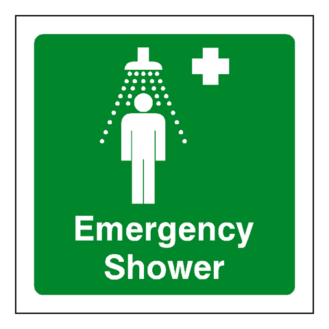 First Aid Emergency Shower Sticker - Safety-Label.co.uk