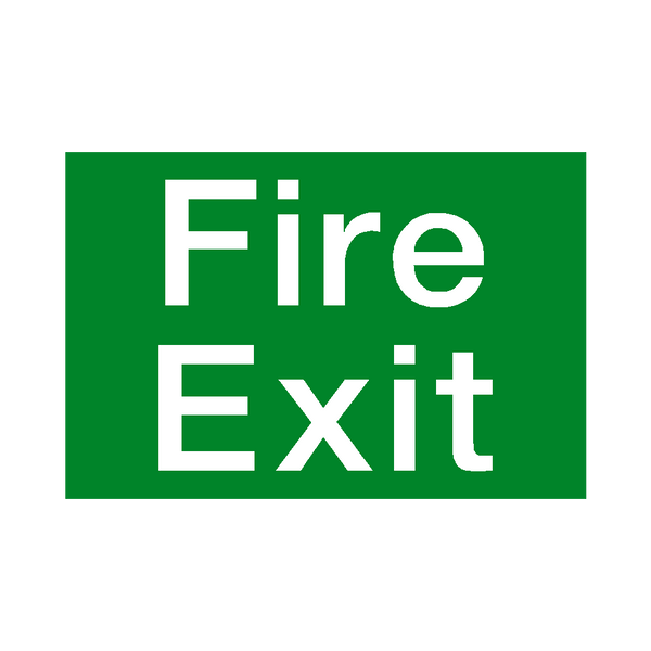 Fire Exit Sticker - Safety-Label.co.uk