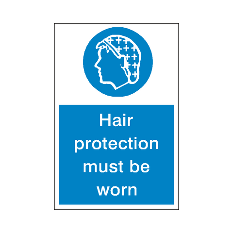 Hair Protection Sticker - Safety-Label.co.uk
