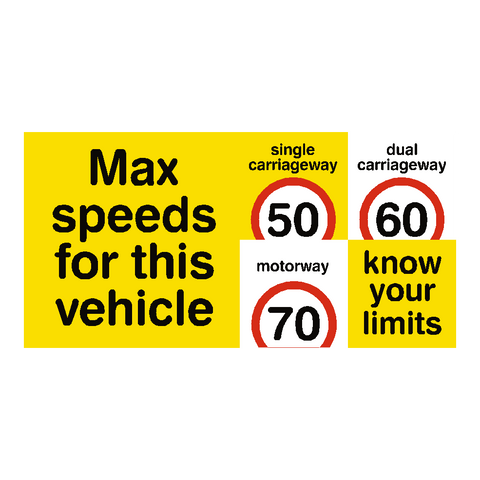 Max Speed Limit Vehicle Sticker - Safety-Label.co.uk