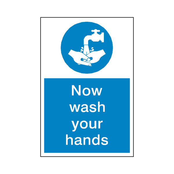 Wash Your Hands Sticker - Safety-Label.co.uk