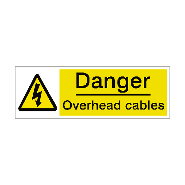 Overhead Cables Label - Safety-Label.co.uk