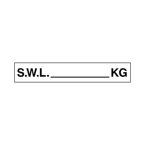 S.W.L Label Kg White - Safety-Label.co.uk