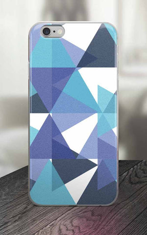 Phone Case - 65 MCMLXV Blue Colored Triangles Print IPhone Case