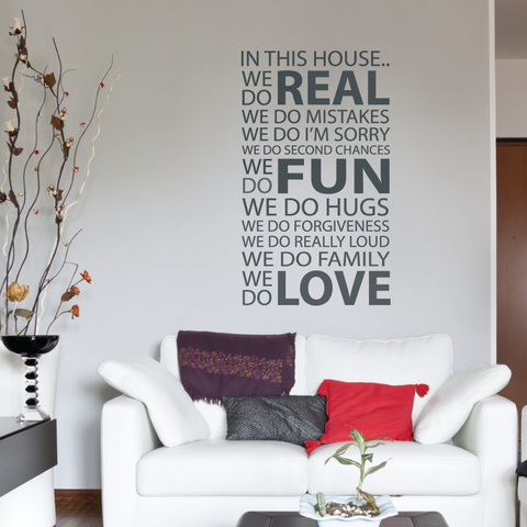 In This House Quote Wall Sticker