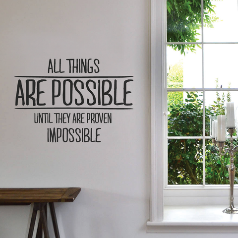 All Things Are Possible Wall Sticker