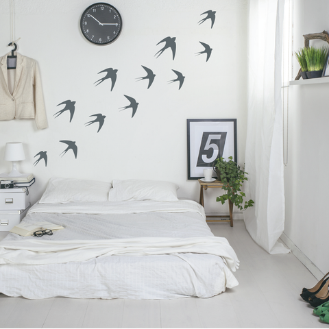 Flying Swallow Birds Wall Stickers