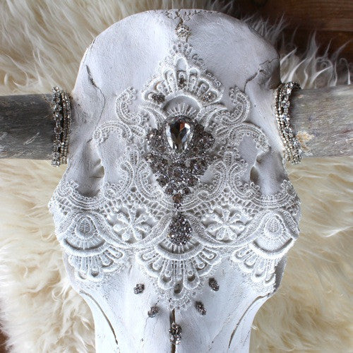 Child of Wild Bones Femme Ethereal Dreams Lace Cow Skull