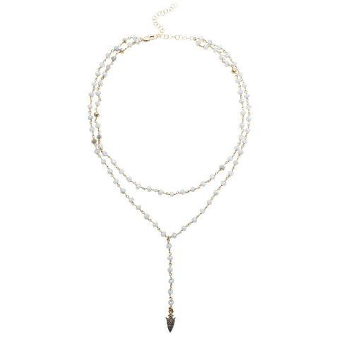 CW collection Jewelry Moonstone / 14 Inches Loves Arrow - Diamond