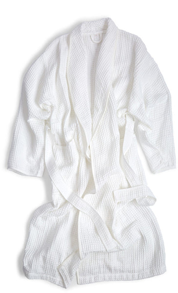 Air Waffle Bathrobe - White
