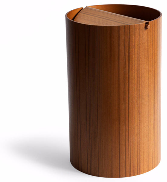 Ayous Paper Waste Basket with Lid - Large