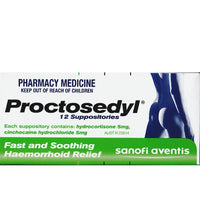 PROCTOSEDYL Supps 12