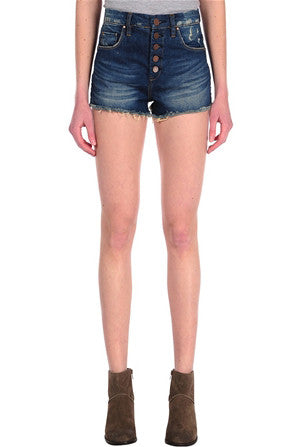 FRESH TO DEATH HI-WAIST DENIM SHORTS