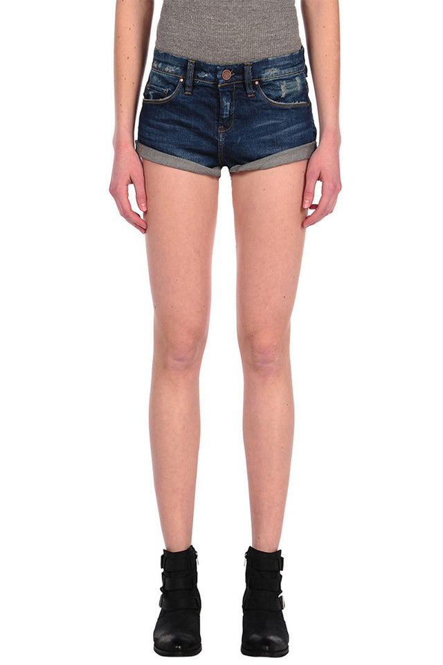 CUFF DENIM SHORT LITTLE QUEENIE