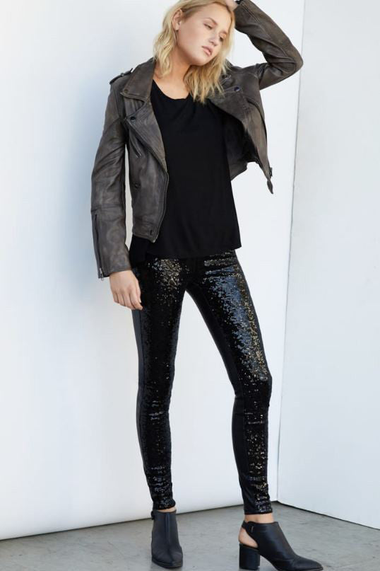 "SEQUIN SKINNY PANTS - ""SHAPE SHIFTER"""