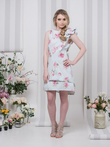 Blue Rose Garden Bradley Dress