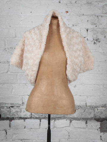 Cream Faux Fur Shrug