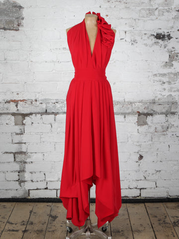Bright Red Ava Maxi Dress