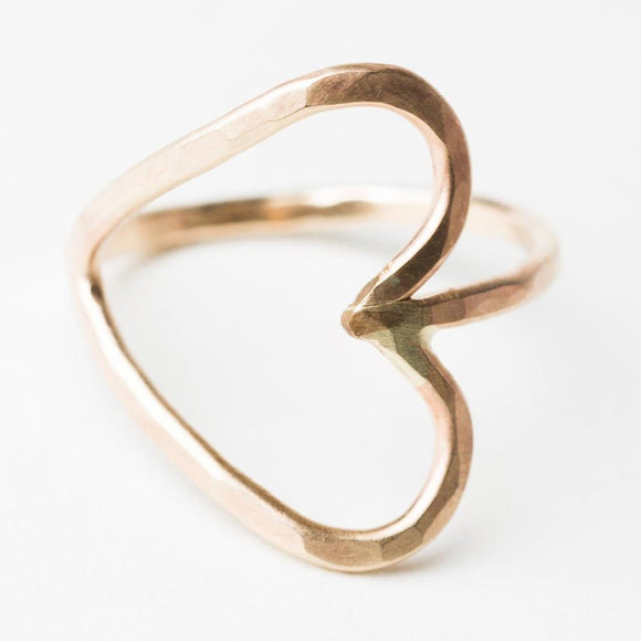 R407 - Forged Heart Ring