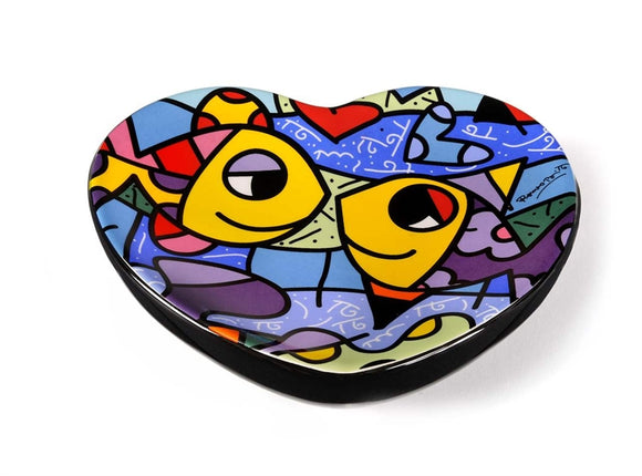*New* Romero Britto Ceramic Fish Design Soap Dish
