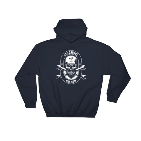 CK5 GARAGE Hooded Sweatshirt (two sided design)