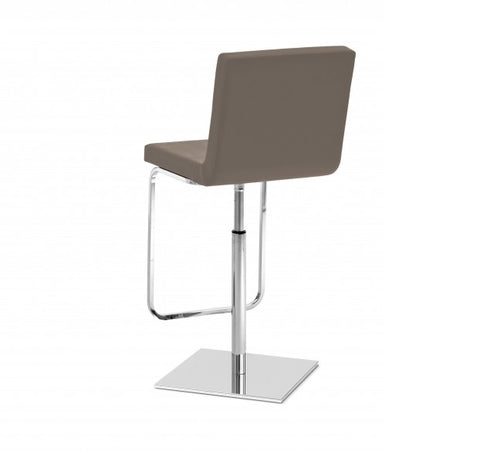Leatherette upholstered Piston swivel stool in taupe by Domitalia