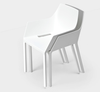 Buy Sculpture Like Modern White Italian Stackable Armchair | 212Concept