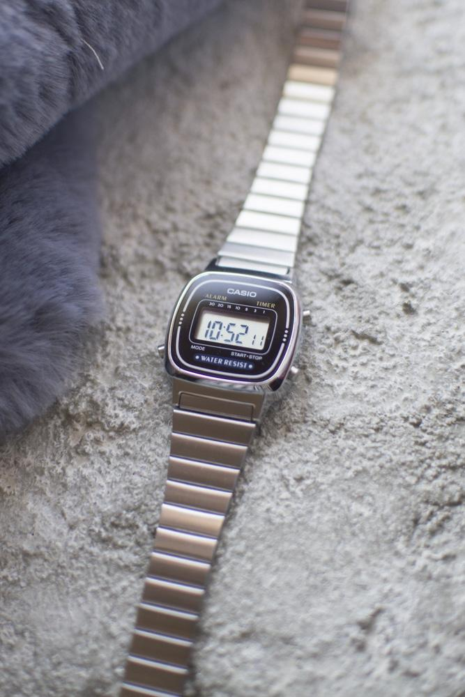 Casio Mini Digital Watch in Silver/Black